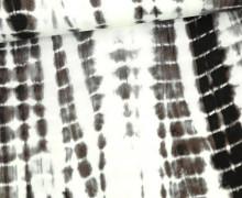 Viskose - Blusenstoff - Batik Streifen - Braun/Weiß