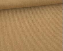 Stretchcord - Feincord - elastischer Babycord - Uni - Braunbeige