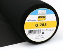 1 Meter Vlieseline - G 785 - Freudenberg - Schwarz - 90cm