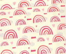 Sommersweat - Ecru - Bio Qualität - Regenbogen Liebe - Pink/Rosa - abby and me
