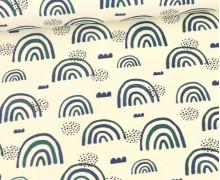Sommersweat - Ecru - Bio Qualität - Regenbogen Liebe - Grün/Blau - abby and me