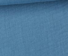 Musselin Lotta - Muslin - Uni - Double Gauze - 130gr - Schnuffeltuch - Windeltuch - Jeansblau