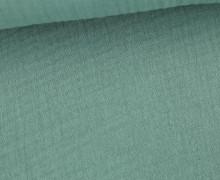 Musselin Bambino - Muslin - Uni - Schnuffeltuch - Windeltuch - Lichtgrün Dunkel