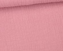 Musselin Bambino - Muslin - Uni - Schnuffeltuch - Windeltuch - Altrose