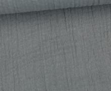 Musselin Bambino - Muslin - Uni - Schnuffeltuch - Windeltuch - Grau