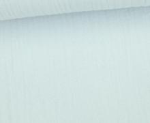 Musselin - Muslin - Uni - Schnuffeltuch - Windeltuch - 150g - Babyblau