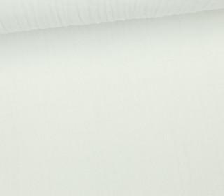 Musselin - Muslin - Uni - Schnuffeltuch - Windeltuch - 150g - Weiß