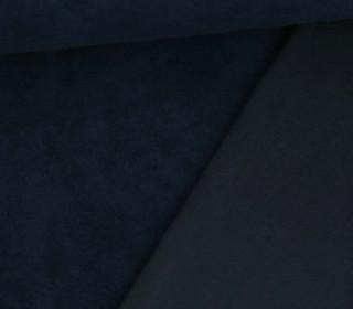 Sherpa Fleece - Uni - Baumwoll-Mischgewebe  - Stahlblau