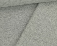 French Terry - Sweat - Leicht Geraut - Uni - Grau Meliert