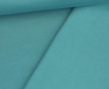 French Terry - Sweat - Leicht Geraut - Uni - Wasserblau