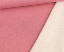 Kuschelsweat - Glitzer - Lurex - Rosé/Rot
