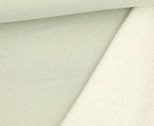 Kuschelsweat - Glitzer - Lurex - Weißgrün/Gold