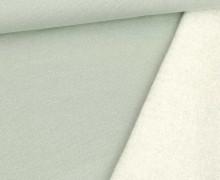 Kuschelsweat - Glitzer - Lurex - Lichtgrün Hell/Silber