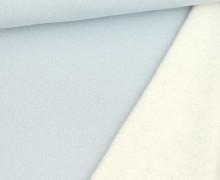 Kuschelsweat - Glitzer - Lurex - Pastellblau/Silber