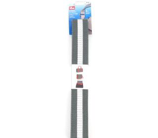 Prym - Gurtband für Taschen - Streifen - 3m - Grau/Weiß