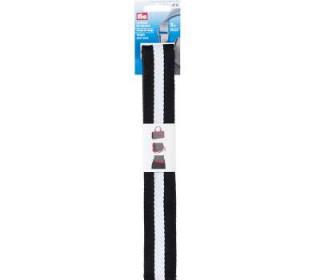 Prym - Gurtband für Taschen - Streifen - 3m - Schwarz/Weiß