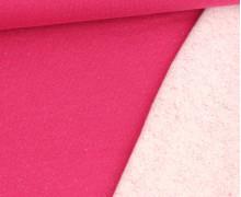 Kuschelsweat - Glitzer - Lurex - Pink/Silberrosa