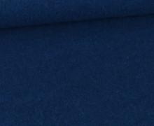 Wolle - Walkstoff - Uni - Azurblau
