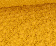 Waffelstrick - Strickstoff - Uni - Maisgelb