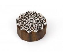 Stempel - Original Textilstempel - Indischer Holzstempel - Stoffdruck - Mandala - Sterne - Klein