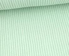 Hipster Bündchen - Rippen - Glitzer - Schlauchware - Weißgrün/Silber