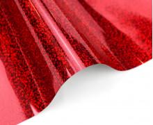 A4 Holographie Flex - Bügelfolie - Rot