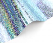 A4 Holographie Flex - Bügelfolie - Hellblau