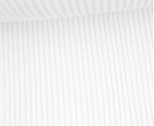 Hipster Bündchen Knud - Rippen - Uni - Schlauchware - Weiß