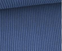 Hipster Bündchen Knud - Rippen - Uni - Schlauchware - Brillantblau
