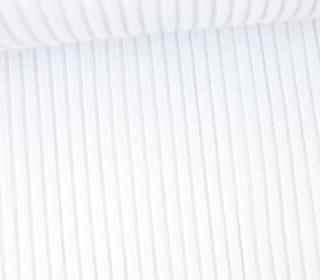 Hipster Bündchen Fiete - Rippen - Uni - Schlauchware - Weiß