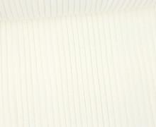 Hipster Bündchen Fiete - Rippen - Uni - Schlauchware - Warmweiß