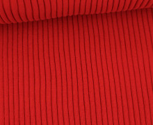 Hipster Bündchen Fiete - Rippen - Uni - Schlauchware - Rot