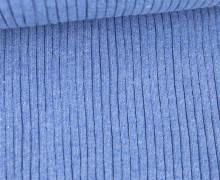 Hipster Bündchen Fiete - Rippen - Uni - Schlauchware - Hellblau Melange