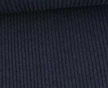 Hipster Bündchen Fiete - Rippen - Uni - Schlauchware - Graublau Melange