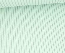 Hipster Bündchen Fiete - Rippen - Uni - Schlauchware - Weißgrün