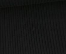 Hipster Bündchen Fiete - Rippen - Uni - Schlauchware - Schwarz