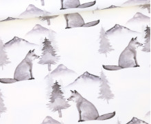 Sommersweat - Ecru - Bio Qualität - Black And White Collection - Fearless Foxes - abby and me