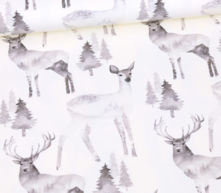 Sommersweat - Ecru - Bio Qualität - Black And White Collection - Dreamy Deers - abby and me