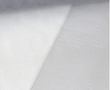 Fester Tüllstoff - 140cm - Uni - Hellgrau