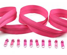 2m Endlosreißverschluss*s + 10 Zipper - Pink (146)