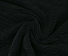 Jersey - Schmale Rippen - 250g - Uni - Schwarzblau