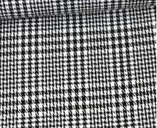 Viskose Mischgewebe - Blusenstoff - Kariert - Schottenmuster - Schwarz/Weiß
