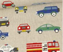 Half Panama Premium - Leinenoptik - Autos - Beige