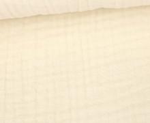 Musselin - Muslin - Uni - Triple Gauze - 190gr - Schnuffeltuch - Windeltuch - Warmweiß