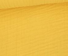 Musselin - Muslin - Uni - Triple Gauze - 190gr - Schnuffeltuch - Windeltuch - Blassgelb