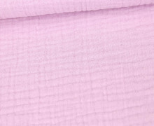 Musselin - Muslin - Uni - Triple Gauze - 190gr - Schnuffeltuch - Windeltuch - Pastellrosa