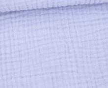 Musselin - Muslin - Uni - Triple Gauze - 190gr - Schnuffeltuch - Windeltuch - Pastellblau