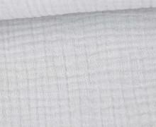 Musselin - Muslin - Uni - Triple Gauze - 190gr - Schnuffeltuch - Windeltuch - Lichtgrau