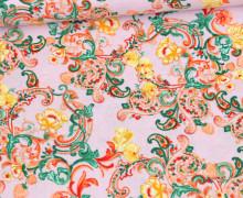 Baumwollstoff - Klaranähta - Buntes Paisleymuster - Lavendel Pastell