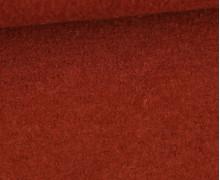 Wolle - Walkstoff - Uni - Rostorange